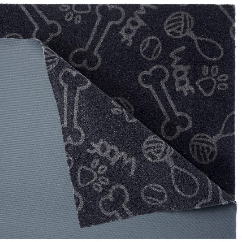 HANSE Home Fußmatte »Dog Toys«, rechteckig, 4 mm Höhe, Fussabstreifer, Fussabtreter, Schmutzfangläufer, Schmutzfangmatte, Schmutzfangteppich, Schmutzmatte, Türmatte, Türvorleger