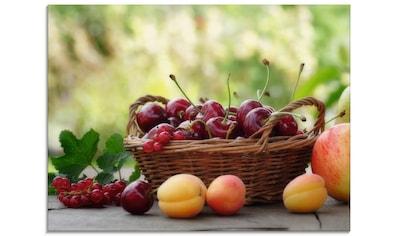 Artland Glasbild »Frische Früchte Körbchen«, Lebensmittel, (1 St.) kaufen