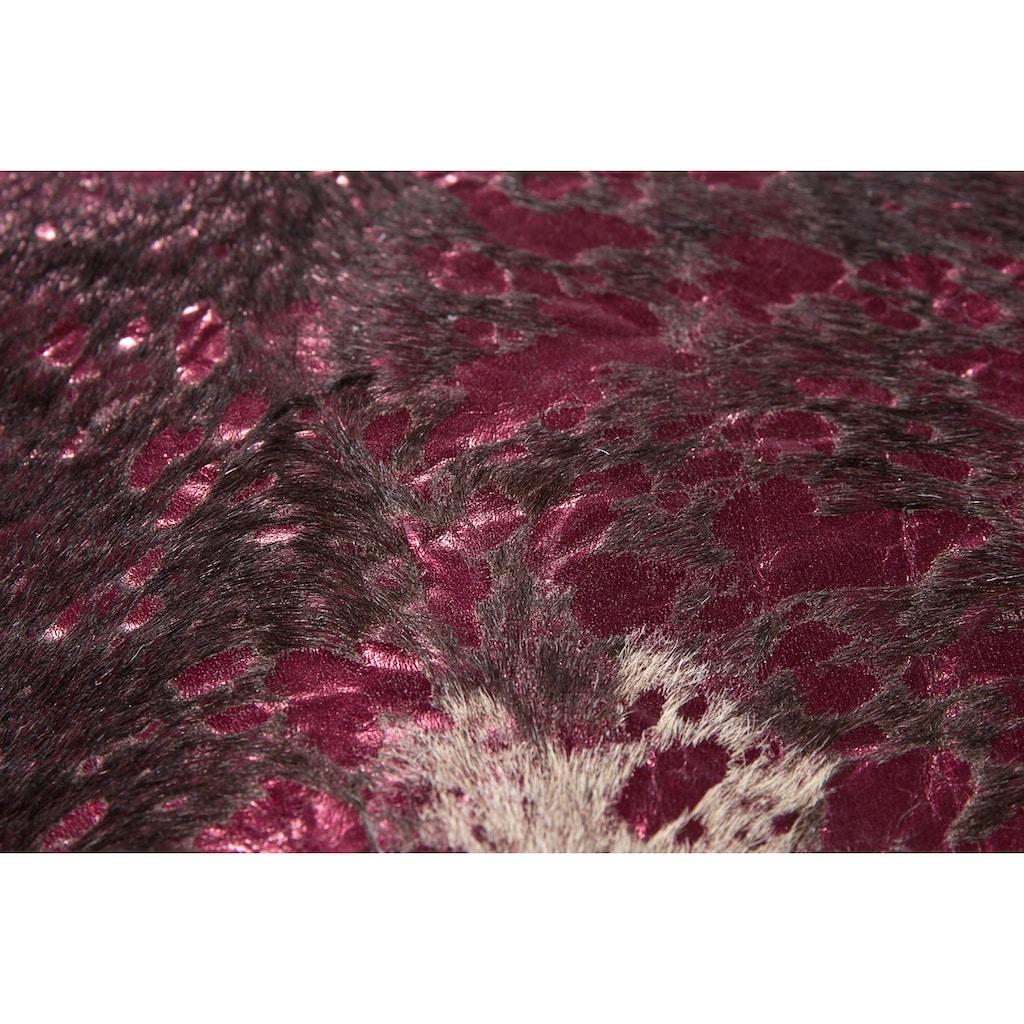 LUXOR living Fellteppich »Fell Pop Art«, fellförmig, 4 mm Höhe, echtes gefärbtes Rinderfell, Naturprodukt - daher ist jedes Rinderfell ein Einzelstück, Wohnzimmer