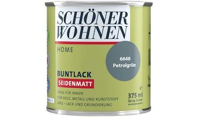 SCHÖNER WOHNEN-Kollektion Lack »Home«, seidenmatt, 375 ml, petrolgrün kaufen