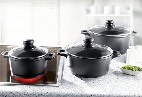 Elo - Meine Küche Topf-Set, Aluminiumguss, (Set, 6 tlg.) schwarz Topf-Set Topfsets Töpfe Haushaltswaren