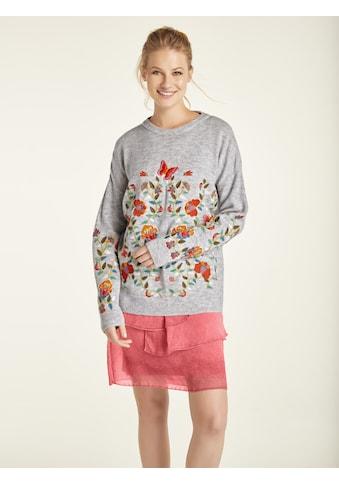 Pullover mit Blumenstickerei kaufen