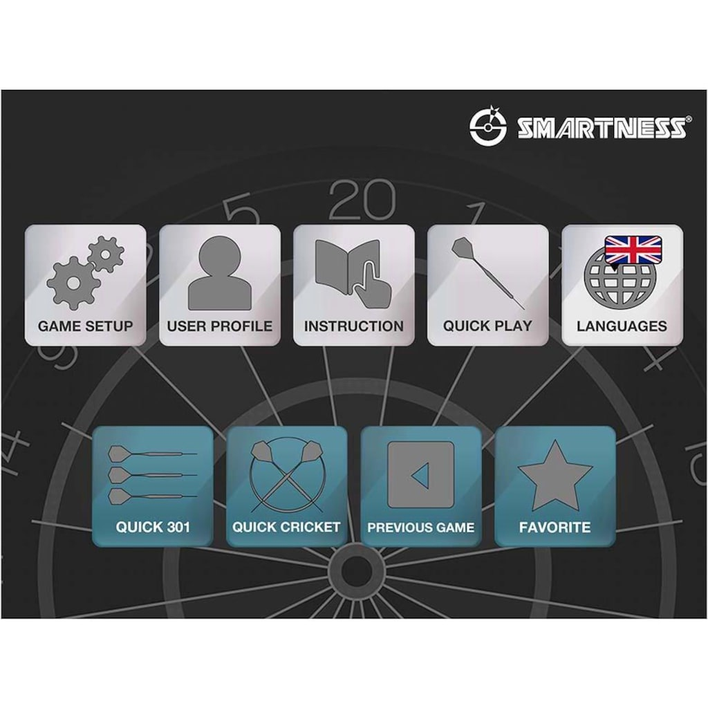 SMARTNESS® Dartscheibe »Elektronische Dartscheibe, Arcadia 4.0«