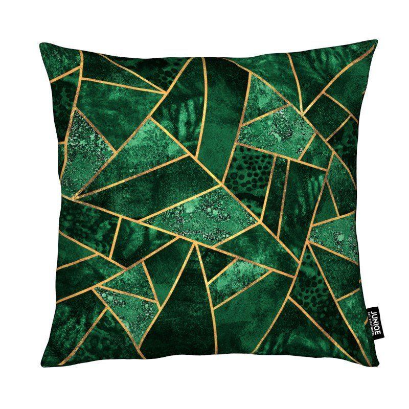 Dekokissen Deep Emerald Juniqe