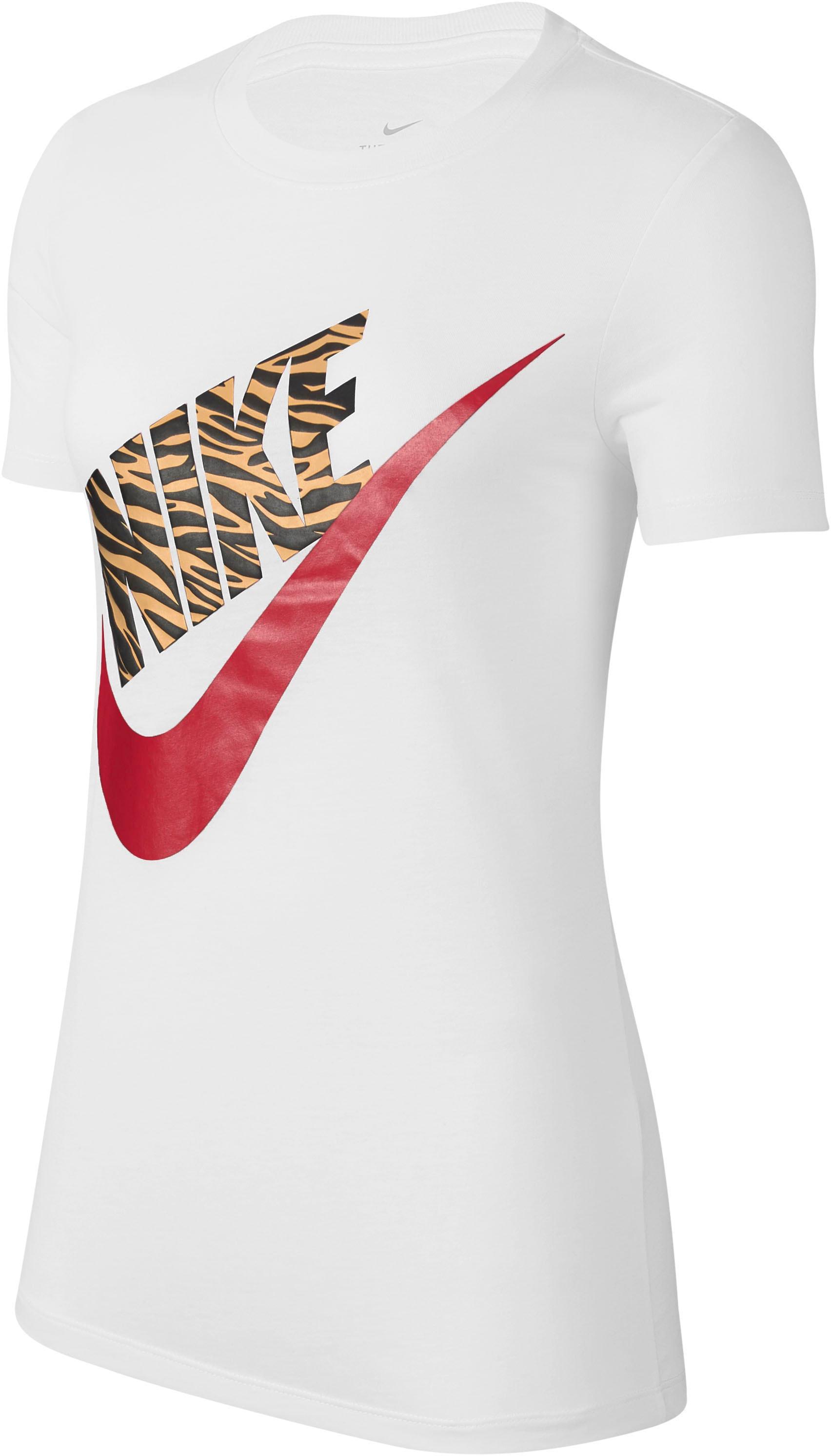 Nike Sportswear T-Shirt W NSW TEE PREP FUTURA 1 weiß Damen T-Shirts Shirts Sweatshirts