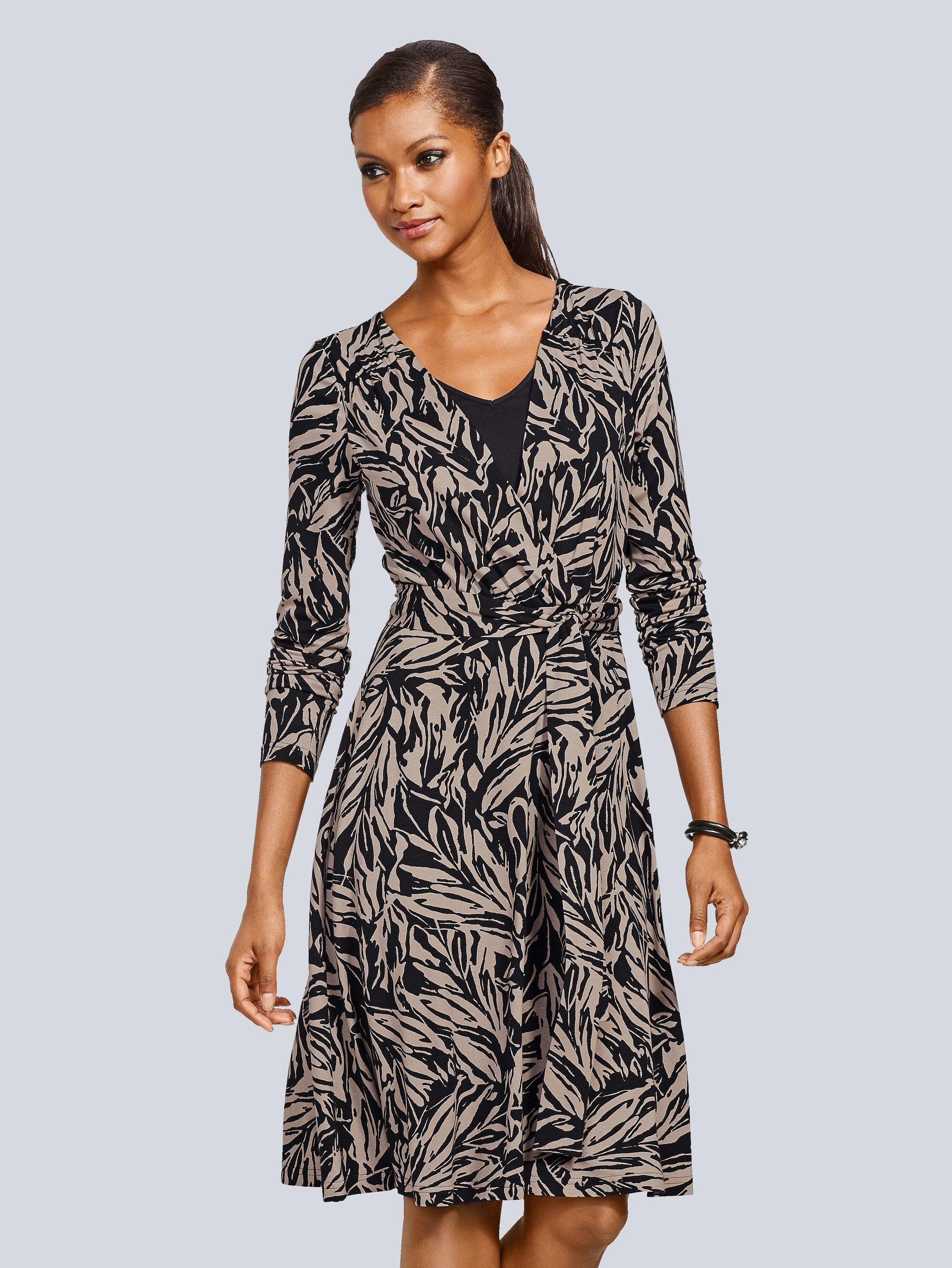 Alba Moda Jerseykleid in schöner Wickeloptik