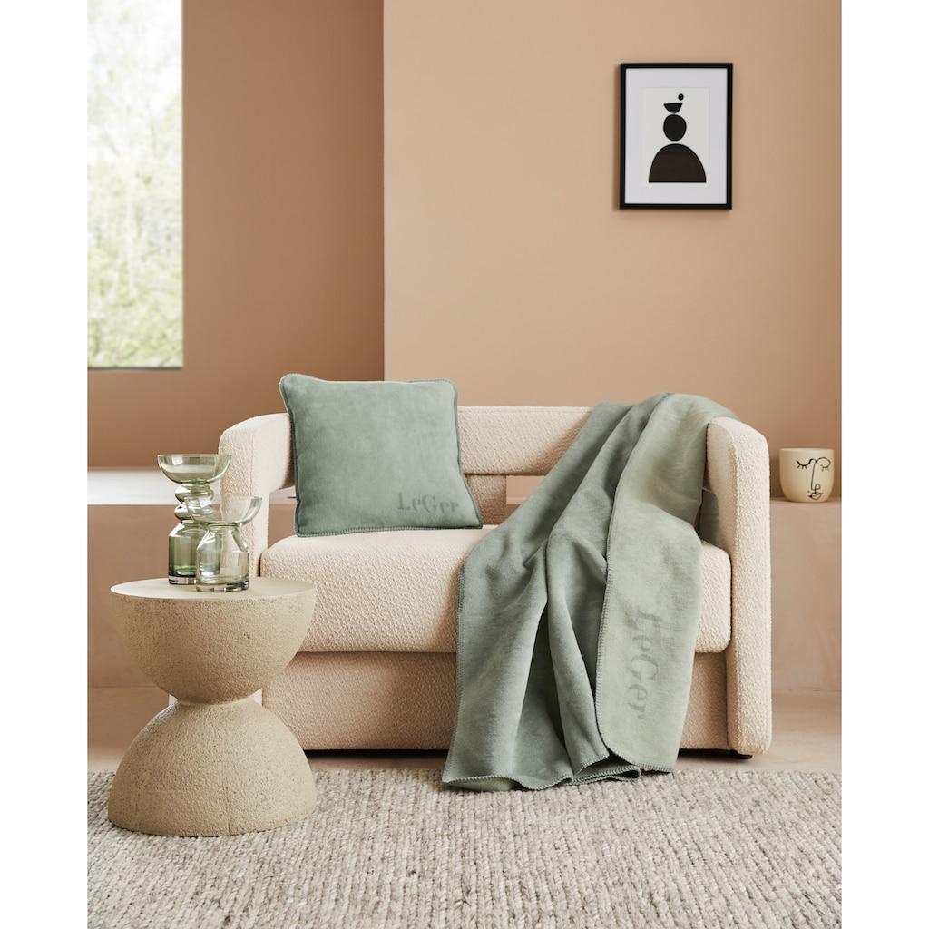 LeGer Home by Lena Gercke Wohndecke »Anisa«, mit modernem Schriftzug
