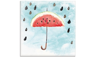 Artland Glasbild »Sommer Melonen Regen«, Lebensmittel, (1 St.) kaufen