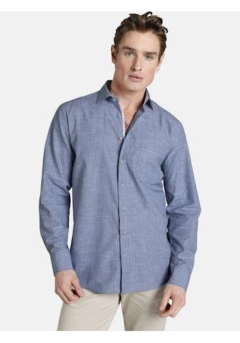 SHIRTMASTER Langarmhemd »blueandcoral«, Baumwollhemd mit Kontrasten kaufen