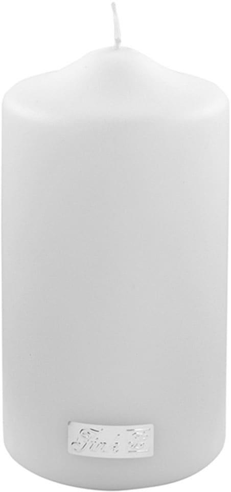 Fink Stumpenkerze, in Metallic-Optik, Höhe ca. 15 cm weiß Kerzen Laternen Wohnaccessoires Stumpenkerze