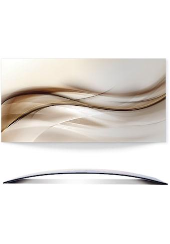 Artland Wandbild »Braune abstrakte Welle«, Muster, (1 St.), in vielen Größen & Produktarten - Alubild / Outdoorbild für den Außenbereich, Leinwandbild, Poster, Wandaufkleber / Wandtattoo auch für Badezimmer geeignet kaufen