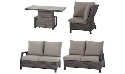 MERXX Loungeset »Corido«, 15 - tlg., 2x 2 - Sitzer, Eckteil, Tisch 90x160 cm, Alu/Keramik kaufen