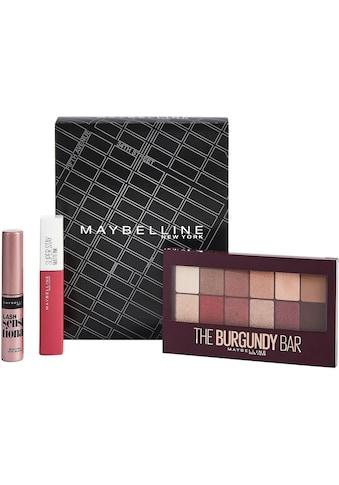 """MAYBELLINE NEW YORK Make - up Set """"Lidschatten und Lippenstift mit gratis Mini Mascara"""", 3 - tlg. kaufen"""