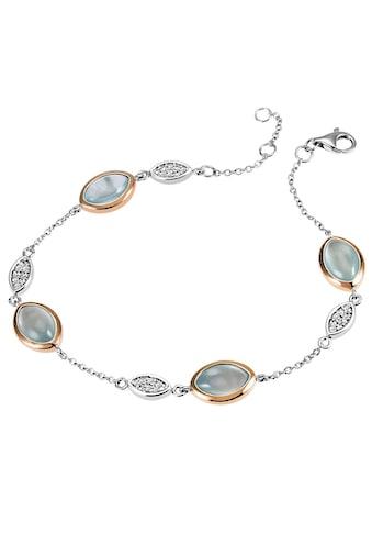 goldmaid Armband 925/ -  Silber 32 Zirkonia 4 Aquamarin kaufen
