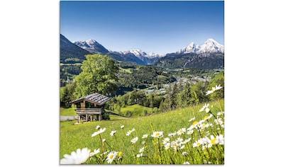 Artland Glasbild »Landschaft in den Bayerischen Alpen«, Berge, (1 St.) kaufen