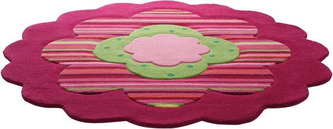 Kinderteppich Flower Shape Esprit rund Höhe 10 mm handgetuftet