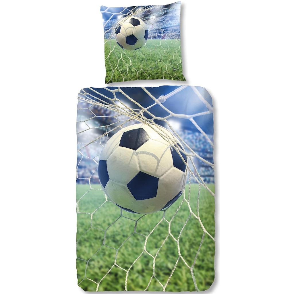 good morning Kinderbettwäsche »Sander«, mit großem Fußball
