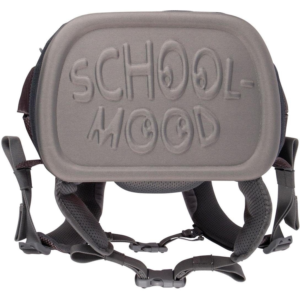 SCHOOL-MOOD® Schulranzen »Loop Air, Henry«, Reflektoren-retroreflektierende Flächen, aus recyceltem Material
