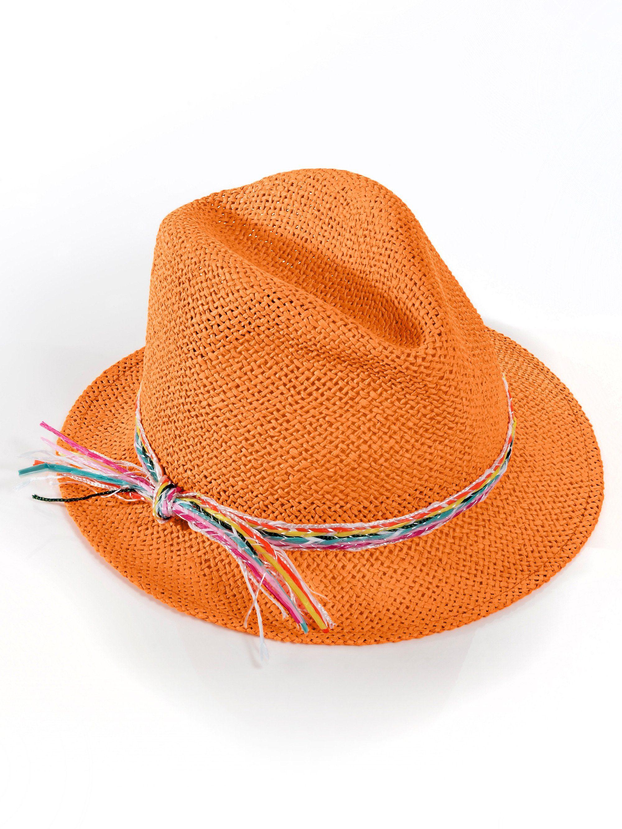 Alba Moda Strohhut | Accessoires > Hüte | Orange | ALBA MODA
