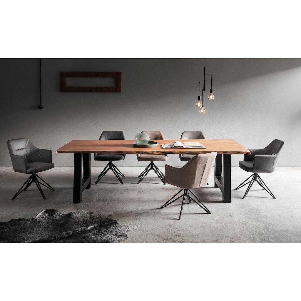 Premium collection by Home affaire Esstisch »Manhattan«, mit Metallgestell in A-Form