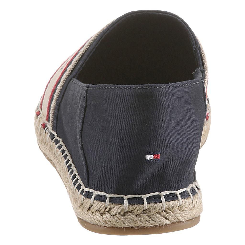 Tommy Hilfiger Espadrille »TH ARTISANAL ESPADRILLE«, in schmaler Schuhweite, mit Ziernähten