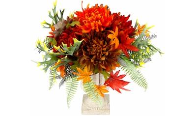 I.GE.A. Kunstpflanze »Chrysanth./Dahlie im Pokal 31 cm« (1 Stück) kaufen