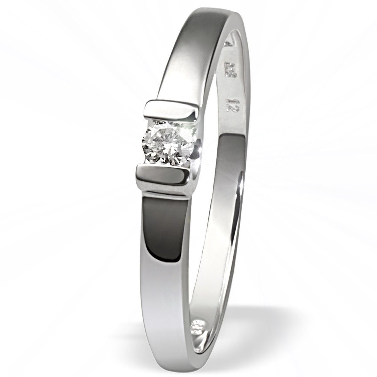 goldmaid Damenring Verlobungsring 585/- Weißgold 1 Brillant 0,08 ct. | Schmuck > Ringe > Verlobungsringe | Weiß | GOLDMAID