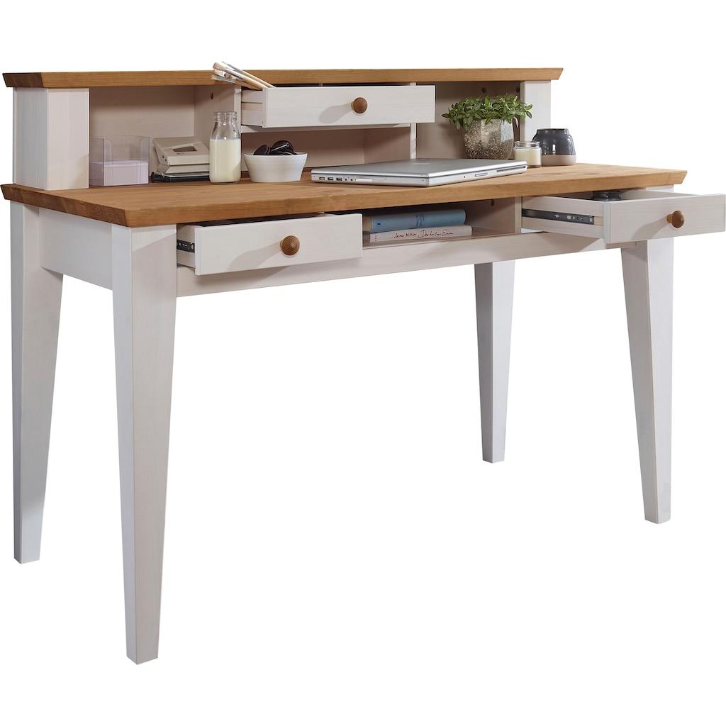 Premium collection by Home affaire Schreibtisch »Kim«, aus Massivholz, hochwertig verarbeitet