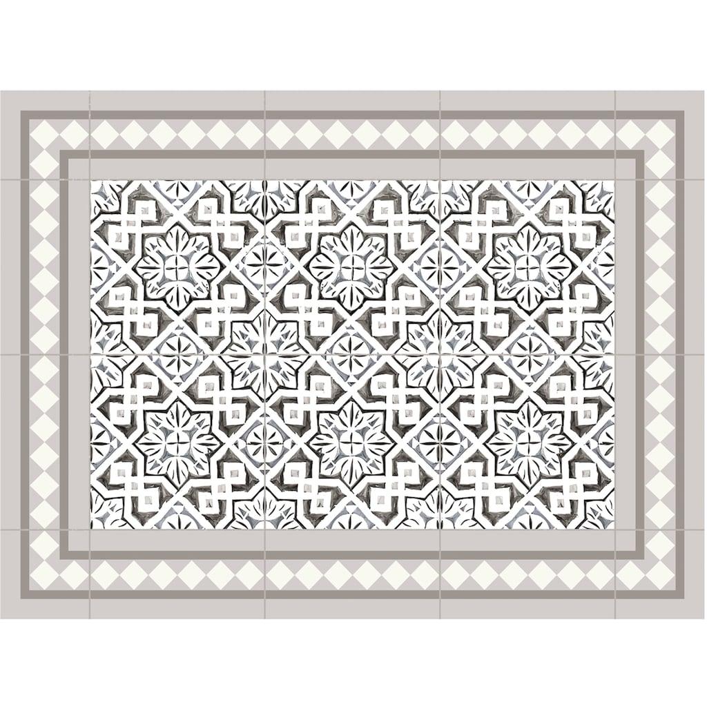 Contento Platzset »Matteo, Tiles, moroccan beige«, (Set, 4 St.), für innen und außen geeignet, wasserabweisend