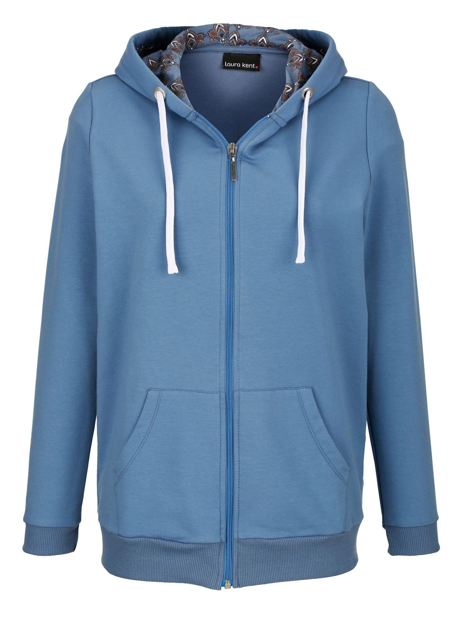 Laura Kent Sweatjacke mit Kängurutasche | Bekleidung > Sweatshirts & -jacken > Sweatjacken | Blau | laura kent