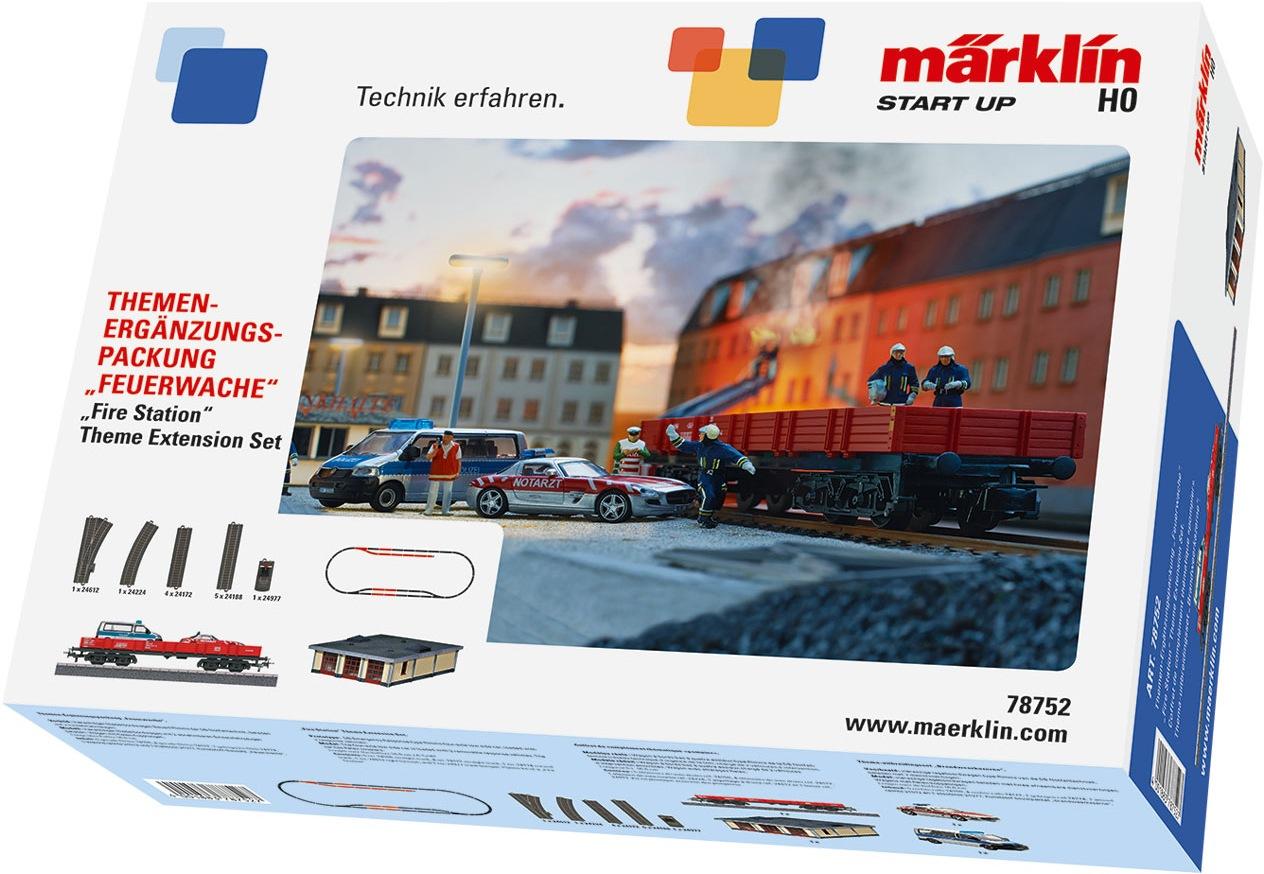 Märklin Modelleisenbahn-Gebäude Start up - Themen-Ergänzungspackung: Feuerwache 78752, Made in Europe bunt Kinder Schienen Zubehör Modelleisenbahnen Autos, Eisenbahn Modellbau