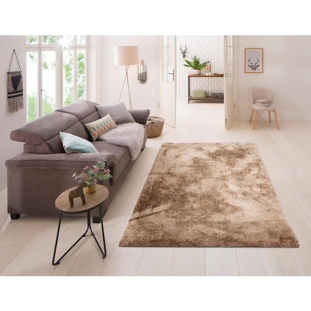 Hochflor-Teppich, »Malin«, Home affaire, rechteckig, Höhe 43 mm, maschinell gewebt