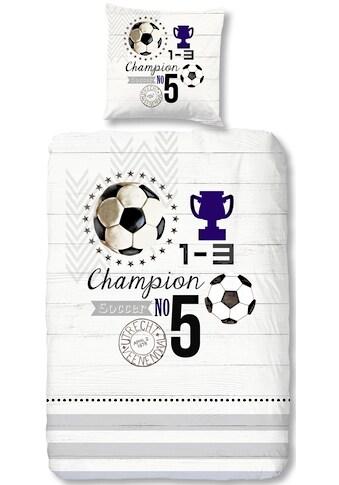 good morning Kinderbettwäsche »Champion«, mit Fußball kaufen