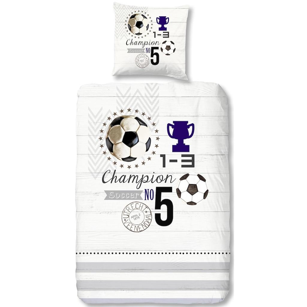 good morning Kinderbettwäsche »Champion«, mit Fußball