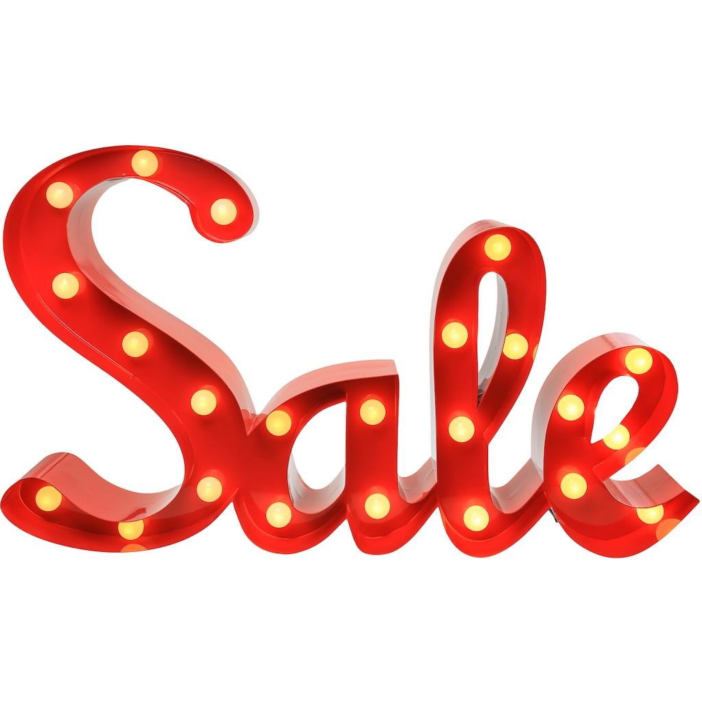 MARQUEE LIGHTS LED Dekolicht »Sale Schriftzug«, 1 St., Warmweiß, Wandlampe, Tischlampe Sale mit 23 festverbauten LEDs - 65cm Breit und 38cm hoch