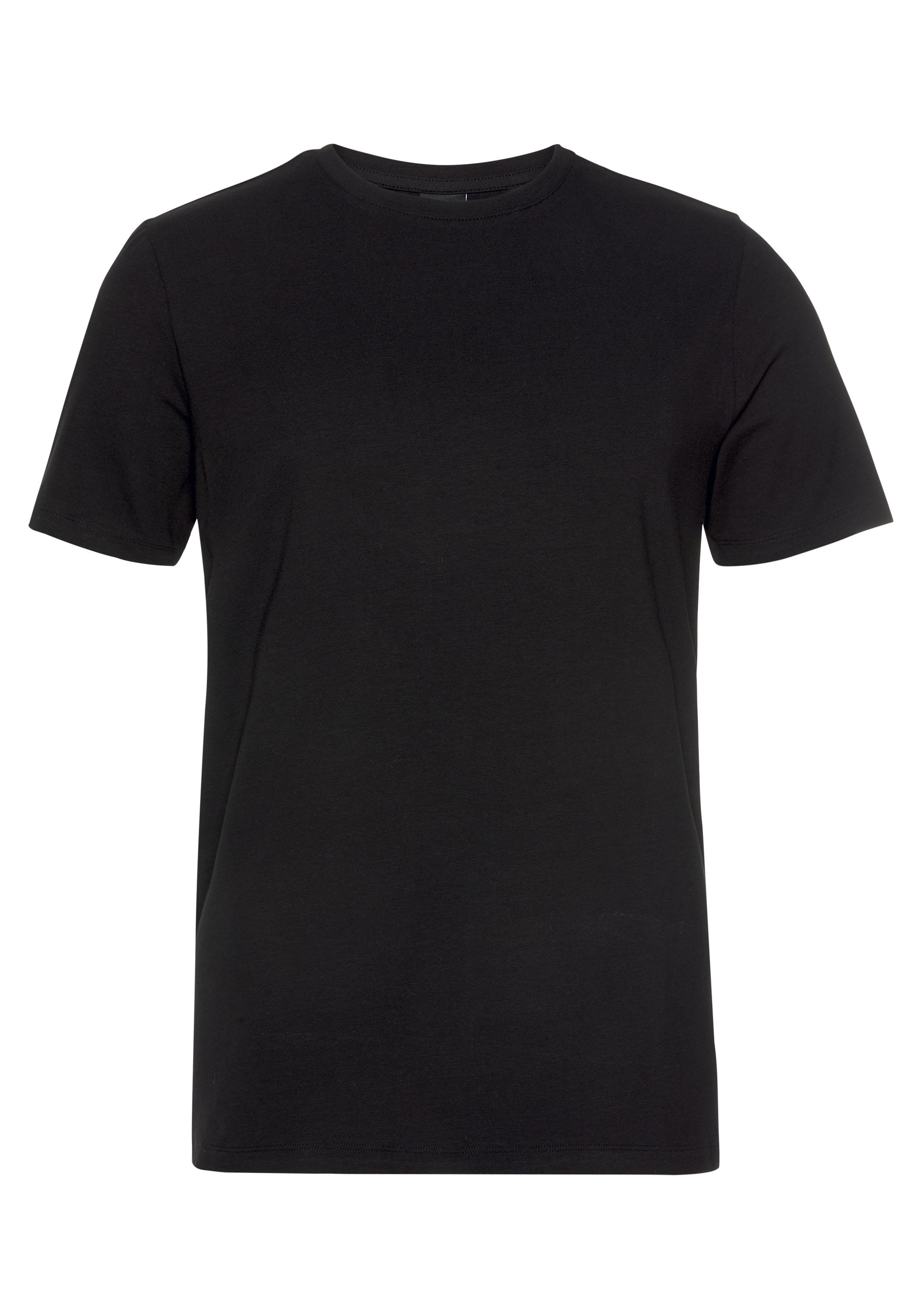 only & sons -  T-Shirt BASIC LIFE SLIM O-NECK 2-PACK