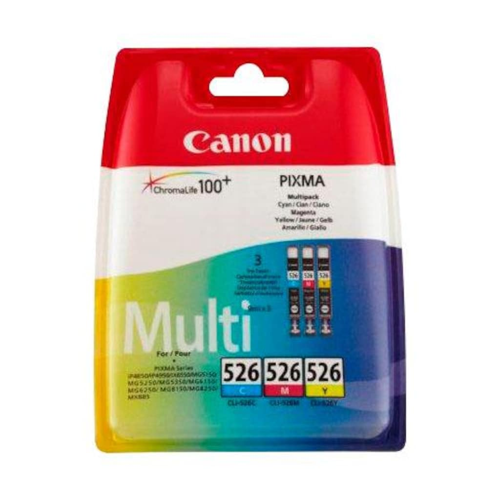 Canon Tintenpatrone »CLI-526 C/M/Y original Kombi-Pack«