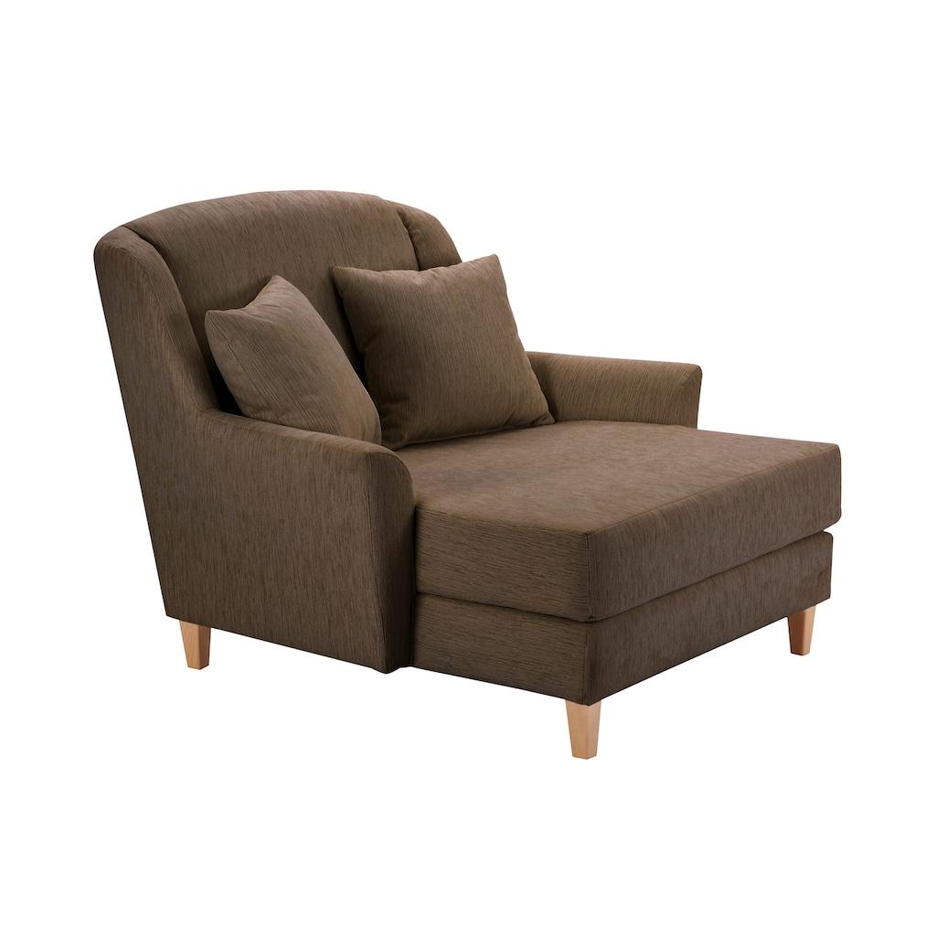 Max Winzer® XXL-Sessel »Julia«, Struktur, mit naturfarbenen Holzfüßen
