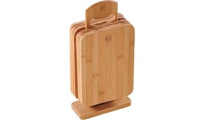 KESPER for kitchen & home Frühstücksbrett Bambus, (Set, 7 - tlg.) kaufen
