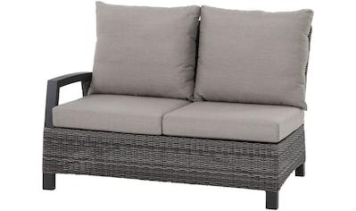 SIENA GARDEN Loungesofa »Corido«, 5 - tlg., 2 - Sitzer, Alu/Polyrattan, inkl. Auflagen, taupe kaufen