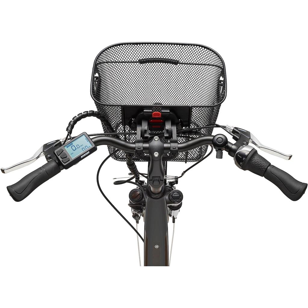 Telefunken E-Bike »Multitalent RC840«, 7 Gang Shimano Nexus Schaltwerk, Frontmotor 250 W
