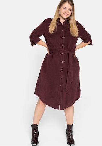 Sheego Blusenkleid, mit Gürtel und Knopfleiste kaufen