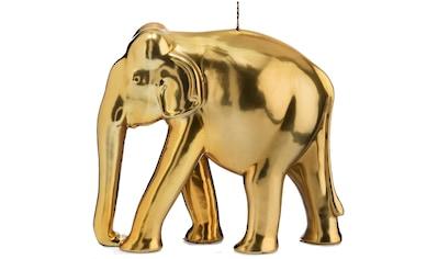 Wiedemann Formkerze »Elefant«, Höhe 19,5 cm, goldfarben kaufen
