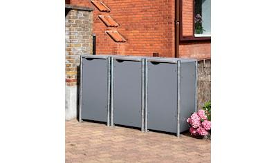 HIDE Mülltonnenbox für 3 x 120 l, grau kaufen