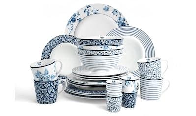 LAURA ASHLEY BLUEPRINT COLLECTABLES Geschirr-Set »Mix Designs China Rose, Sweet Allysum, Floris und Candy Stripe.«, (Set, 24 tlg.) kaufen