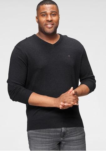 Tommy Hilfiger Big & Tall V - Ausschnitt - Pullover »BT - PIMA COTTON CASHMERE V NECK - B« kaufen