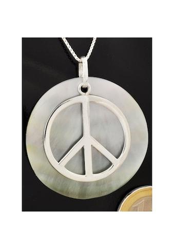 Adelia´s Kettenanhänger »Perlmutt Anhänger Peace Frieden 925 Silber« kaufen