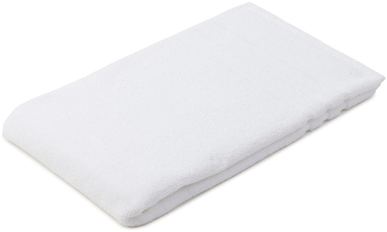 Gözze Badematte Monaco, Höhe 5 mm, beidseitig nutzbar, verwendbar, 0,8 kg/m² Gesamtgewicht weiß Einfarbige Badematten
