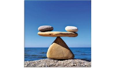 Artland Glasbild »Gleichgewicht - Steine Meer«, Zen, (1 St.) kaufen