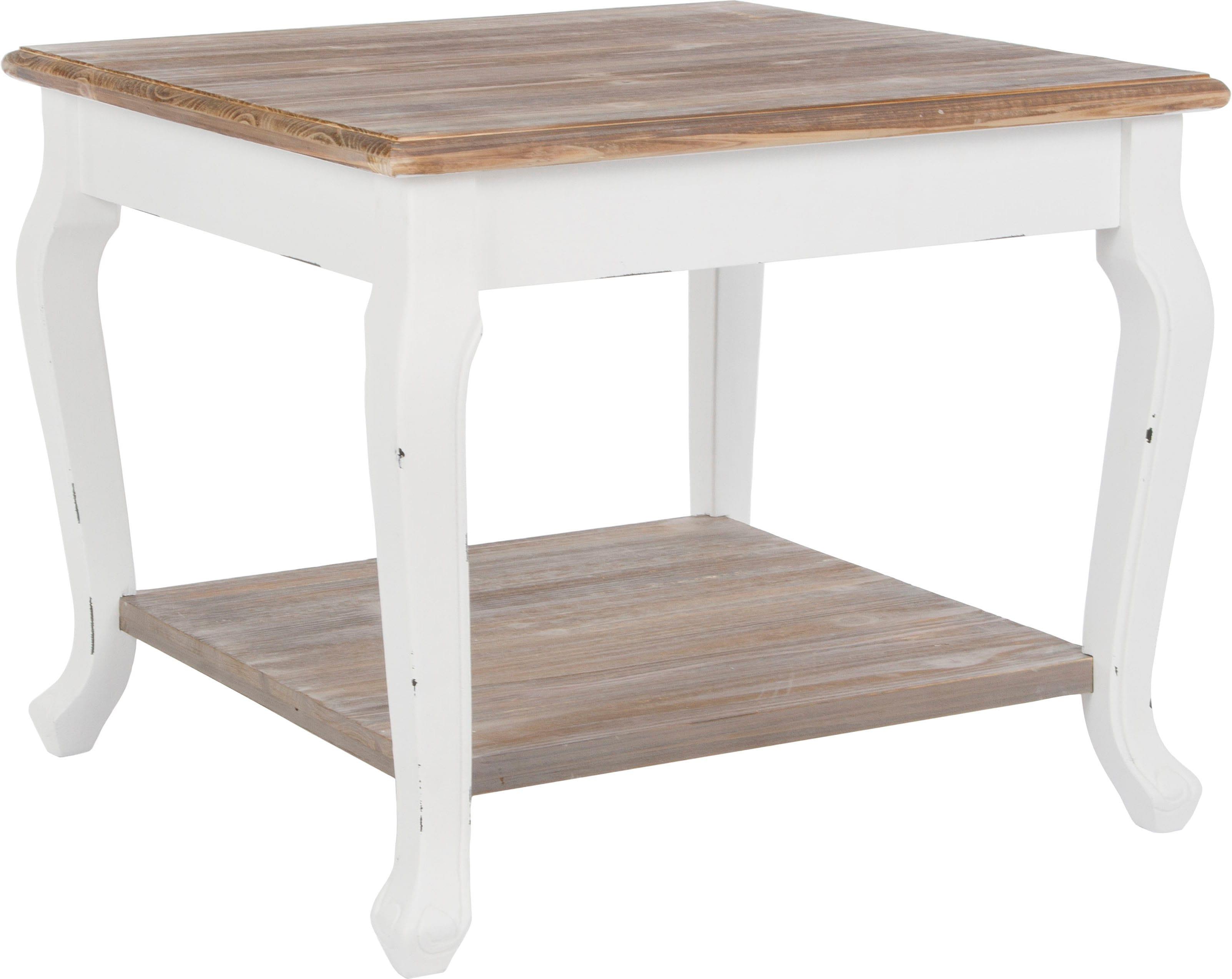 Beistelltisch Adriana, Holztisch, Quadratische Form, Landhausstile braun Beistelltische Tische